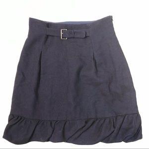 Rebecca Taylor Navy Blue Wool Skirt